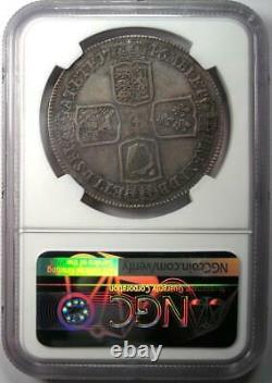 1746 Lima Grande-bretagne Angleterre George II Couronne Coin Certifié Ngc Vf35 Rare