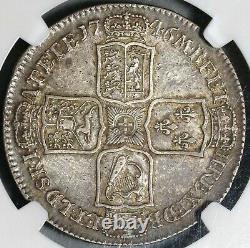 1746 Ngc Vf 35 George II 1/2 Couronne Grande-bretagne Espagne Lima Coin (20102301c)