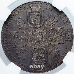 1799 Grande-bretagne Royaume-uni George III Antique Argent 1/2 Couronne Pièce Ngc I88857