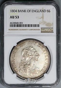 1804 Ngc Au 53 George III 5 Shillings Dollar Grande-bretagne D'argent (de 18073103c)