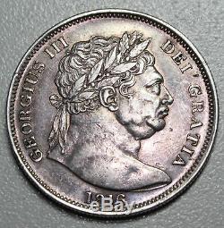1816 George III Demi Couronne Argent Grande-bretagne