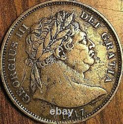 1817 Grande-bretagne George III Silver Half Crown Coin