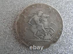 1818 George III 3e Silver Crown Coin LIX Edge