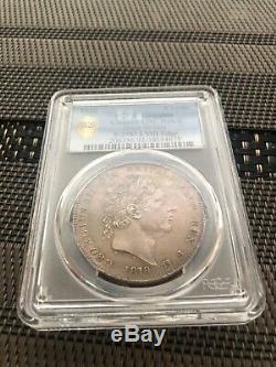1818 Grande-bretagne Uk LVIII George III Couronne Sliver Coin Pcgs Unc De Nice Noir Et Blanc