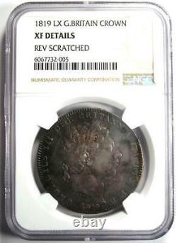 1819 Grande-bretagne Angleterre George III Crown Coin Certifié Ngc Xf Détails (ef)