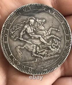 1819 Grande-bretagne Georgius III Pièce D'argent Couronne LIX