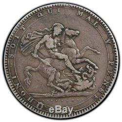 1819 Grande-bretagne Silver Crown Coin Pcgs F-15 Truview- Bateau Libre
