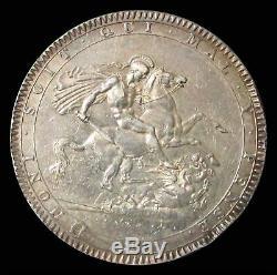 1819 LIX Argent Grande-bretagne Couronne George III Coin Prachtig