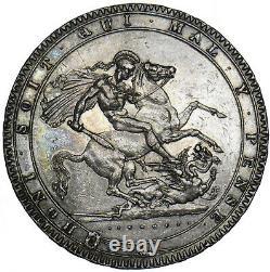 1819 LIX Crown George III British Silver Coin V Nice