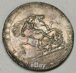 1819 LIX Grande-bretagne Silver Crown Ef Extra Fine George III World Coin