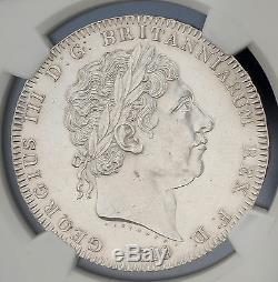 1819 LIX Grande-bretagne Silver Crown Km # 675 S. 3787 Ngc Au George III Rare Coin