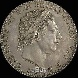 1820 Grande-bretagne George III LX Silver Crown S # 3787 Prachtig (pcgs Au50)