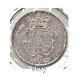 1820 Grande-bretagne George IV Silver Half Crown Km #676 Brilliant Uncirculated