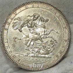 1820 Grande-bretagne Silver Crown Non Circulé Détails Cleaned #061620