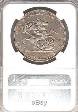 1820 LX Couronne George III Fraisées Argent Ngc Vf Détails Grande-bretagne