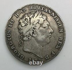 1820 LX George III Couronne Grande-bretagne Decent Grade Nice Rims & Original Look