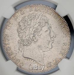 1820 LX Grande-bretagne Silver Crown Km # 675 S. 3787 Ngc Unc George III