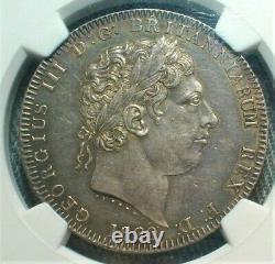 1820 LX Grande-bretagne Silver Crown Ngc Au 58 (#224)