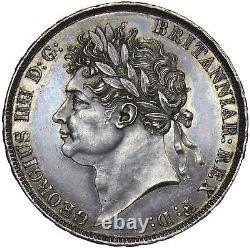 1821 Couronne George IV Pièce D'argent Britannique Superbe