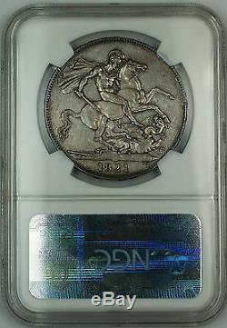 1821 Grande-bretagne Couronne Secundo Argent Monnaie Roi George IV Ngc Au Det. Akr