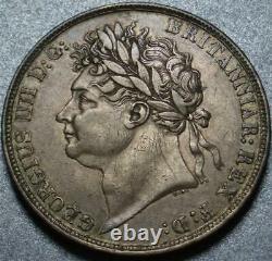 1822 Grande-bretagne Sterling Silver One Crown King George IV + St George & Dragon