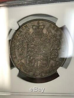 1826 Grande-bretagne Demi-couronne Ngc Au58 Rare Haute Valeur Cert # 2834060-014