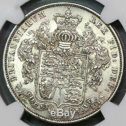 1826 Ngc Au 58 George IV 1/2 Couronne Grande-bretagne Pièce D'argent (19092802c)