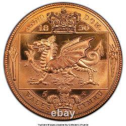1830-dated Grande-bretagne George IV Laiton Ina Retro Fantasy Wales Crown Ms67