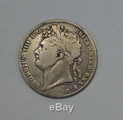 1839 Grande-bretagne 1/2 Crown Token M. C. Amour Gravé. 925 Silver Type 1821-1824