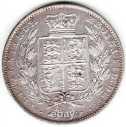 1840 Grande-bretagne Reine Victoria Sterling Silver Half Crown