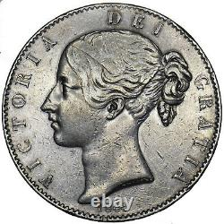 1844 Couronne (stops Étoiles) Victoria British Silver Coin Nice