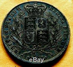 1844 Grande-bretagne Couronne Jeune Buste De La Reine Victoria