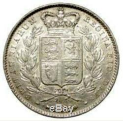 1845 Grande-bretagne Reine Victoria Silver Crown Potentille