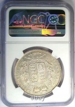 1845 Grande-bretagne Victoria Couronne Coin Certifié Ngc Ongecirculeerd Détail. Unc Ms