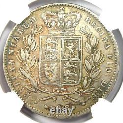 1847 Grande-bretagne Angleterre Victoria Crown Coin Certifié Ngc Xf40 (ef40)