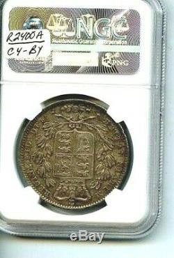 1847 Grande-bretagne Ngc Au Détails / Jeune Chef D'état Very Nice Coin