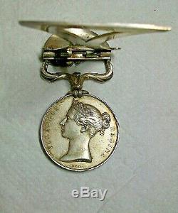 1854 Grande-bretagne Victoria Argent Service De Guerre Crimée Médaille Bureau Affichage Piece