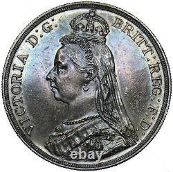 1887 Couronne Victoria British Silver Coin Superbe