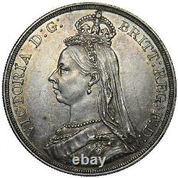 1887 Couronne Victoria British Silver Coin V Nice