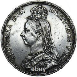 1887 Crown Victoria Pièce D'argent Britannique Très Nice