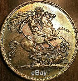1887 Grande-bretagne Victoria Argent Couronne Exemple Fantastique