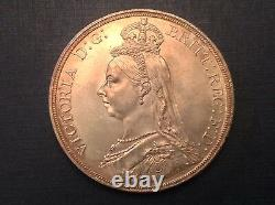- 1887 Grande-bretagne Victoria Golden Jubilee Crown Choice Uncirculated Unc