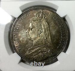 1887 Great Britain Crown Ngc Ms64 Mint State Coin Toner De Lumière Original Nice