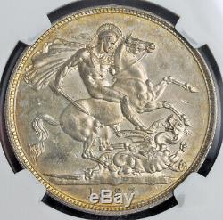 1887, La Grande-bretagne, La Reine Victoria. Jubilé D'argent Bust Couronne. Ngc Ms-61