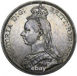 1888 Crown Victoria Pièce D'argent Britannique Très Nice