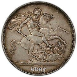 1888 Grande-bretagne Silver Crown Narrow Date S-3921 Victoria Pcgs Au53 Km# 765