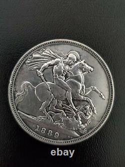 1889 Argent Grande-bretagne Une Couronne