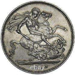 1889 Crown Victoria Pièce D'argent Britannique Très Nice