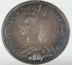 1889 Grande-bretagne Couronne Silver Queen Victoria Xf