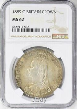 1889 Grande-bretagne Crown Jubilee Head Ngc Ms62
